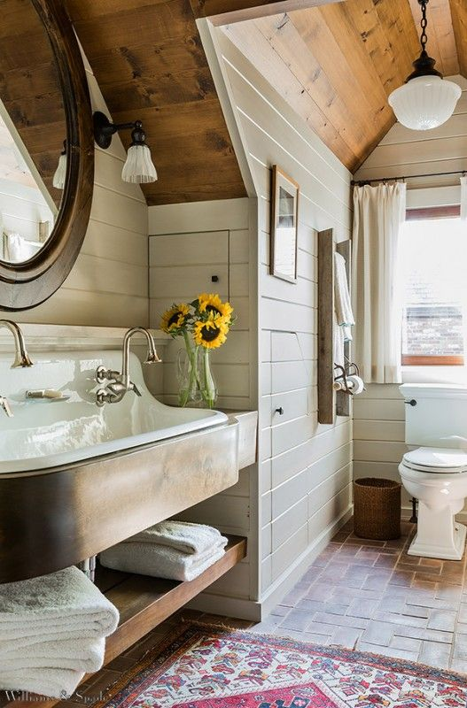 Cast iron trough bathroom sink #troughsink #bathroom #farmhouse #sink #decorhomeideas