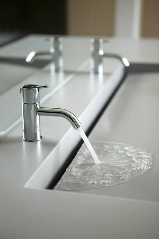 Custom bathroom trough sink #troughsink #sink #bathroom #bathroomsink #decorhomeideas