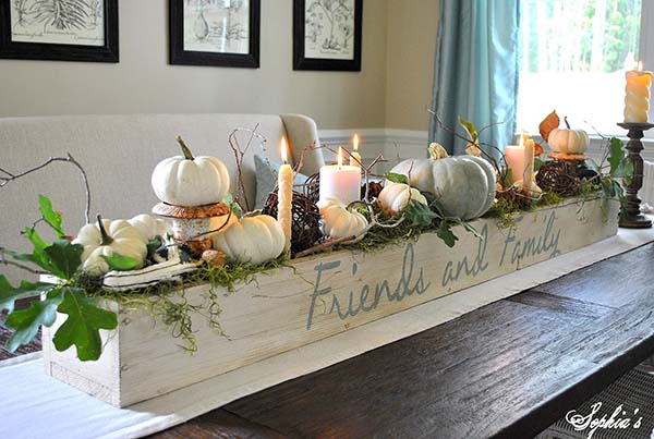 Fall DIY centerpiece #fallcenterpiece #falldecor #diy #falldecoration #thanksgiving #decorhomeideas