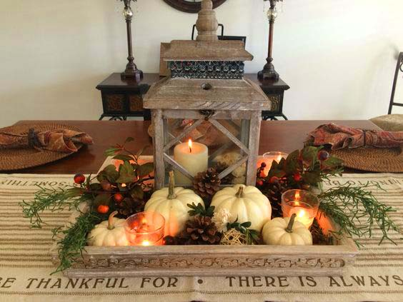 Fall decor DIY centerpiece #fallcenterpiece #falldecor #diy #falldecoration #thanksgiving #decorhomeideas