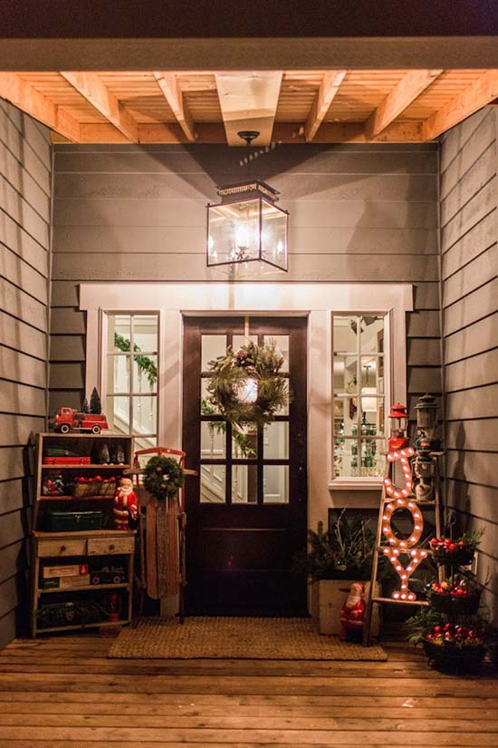 Front porch Merry Christmas decor #Christmasdecoration #Christmas #frontporch #porch #decoration #decorhomeideas