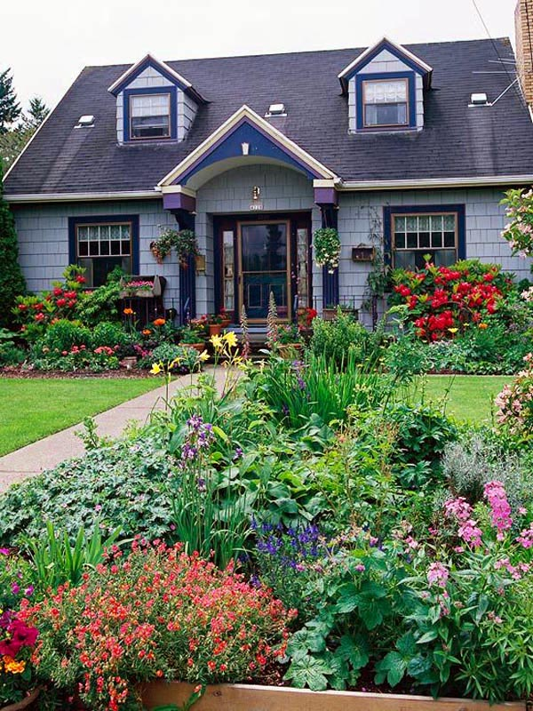 Front yard cottage garden layout #cottagegarden #cottage #garden #landscaping #backyard #flowers #decorhomeideas