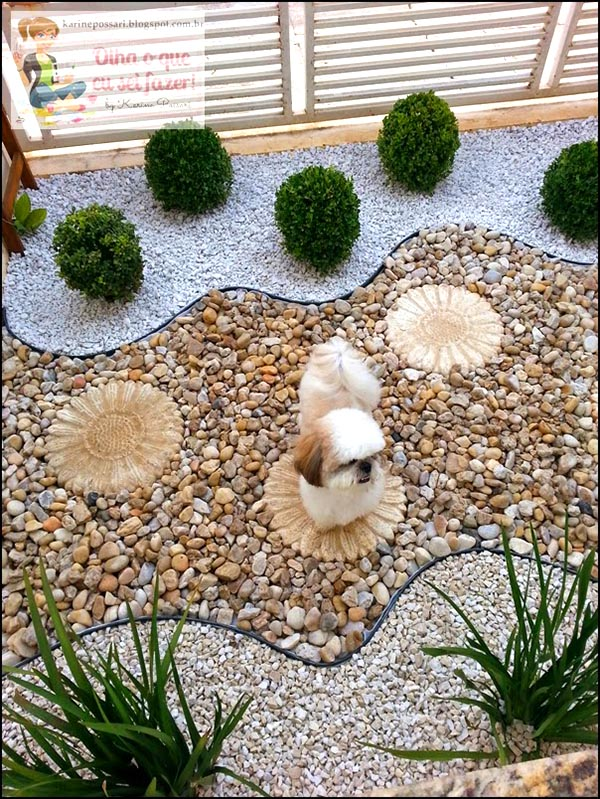 Garden landscaping with pebbles and rocks #garden #landscaping #gardenideas #decorhomeideas