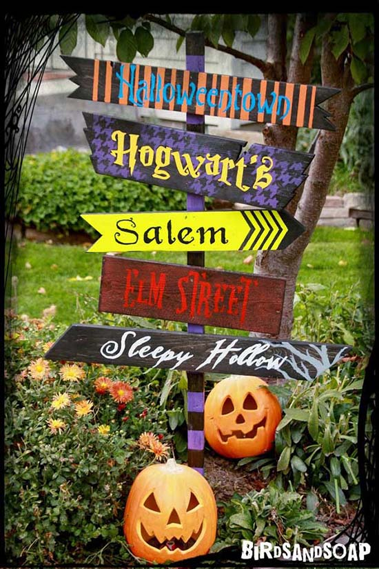 Halloween yard sign outdoor decoration #halloweendecorations #halloween #diyhalloween #halloweendecor #decorhomeideas