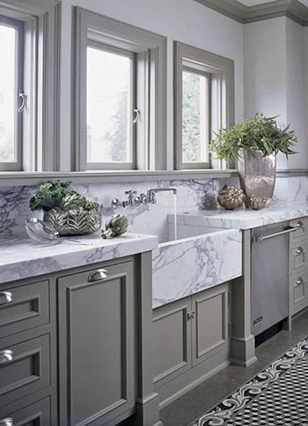 Marble apron sink #troughsink #bathroomsink #bathroom #sink #sinkmaterial #decorhomeideas