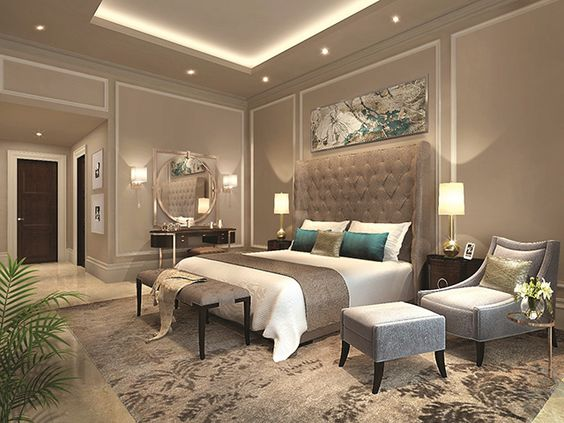Modern master bedroom with sitting area #bedroom #masterbedroom #sittingarea #homedecor #interiordesign #decorhomeideas