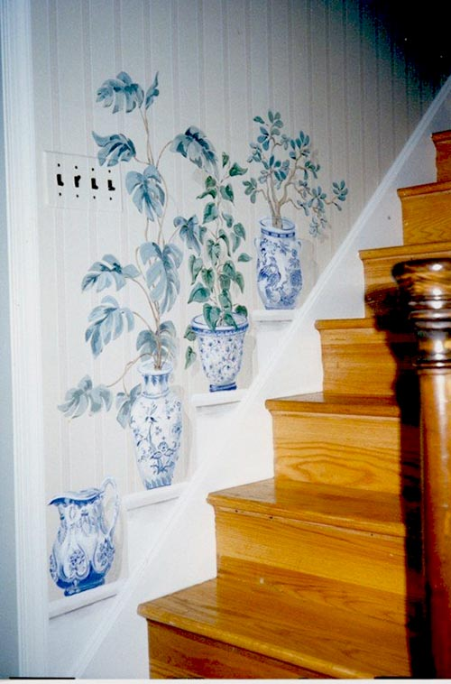 Painted wall stairs decoration #staircase #stairs #stairway #stairsdecoration #homedecor #decorhomeideas