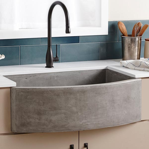 Small concrete farmhouse sink #troughsink #bathroom #sink #concretesink #bathroomideas #decorhomeideas
