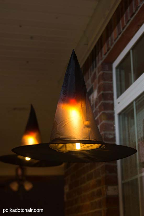 Witch hats luminaries #halloweendecorations #halloween #diyhalloween #halloweendecor #decorhomeideas