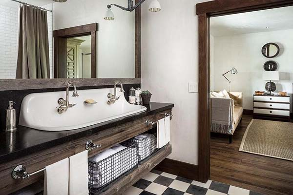 Bathroom Sink Styles: 14 Amazing Farmhouse Trough Bathroom Sink Designs