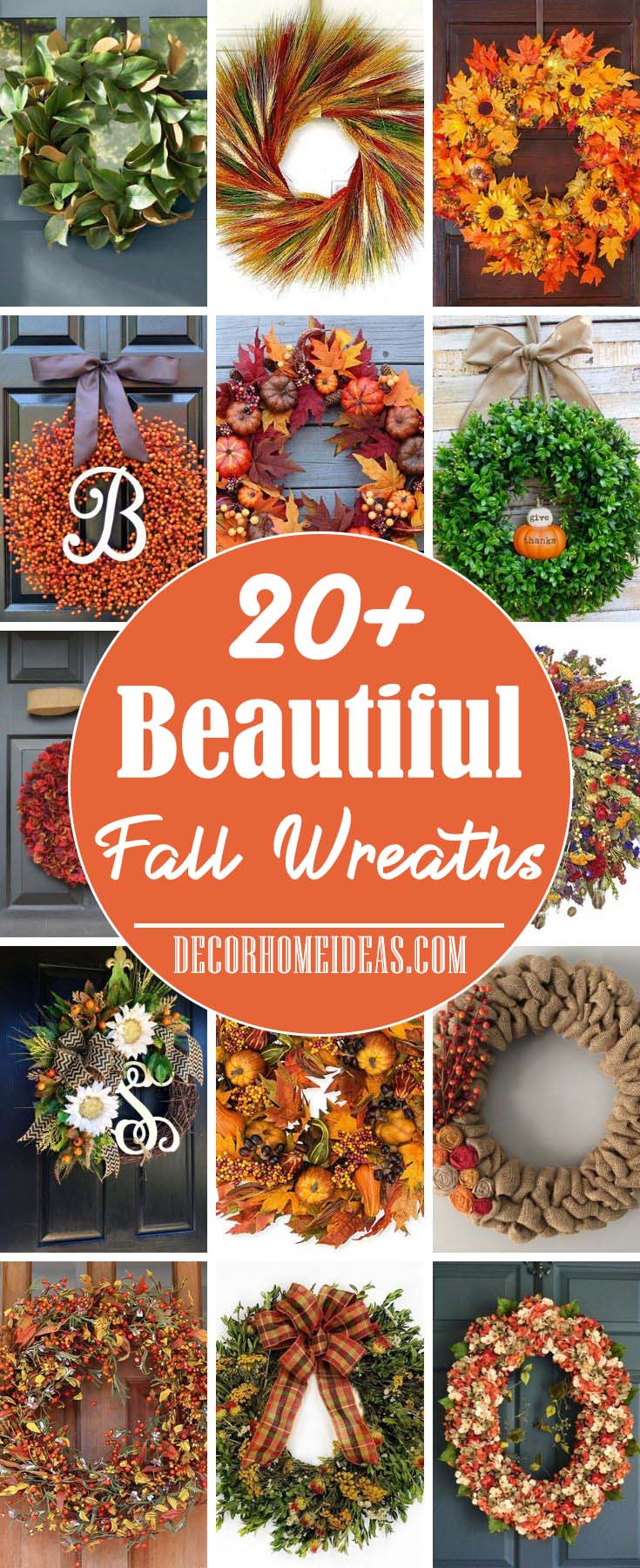 Best Fall Wreath Ideas #wreath #falldecor #fallwreath #falldecoration #decorhomeideas