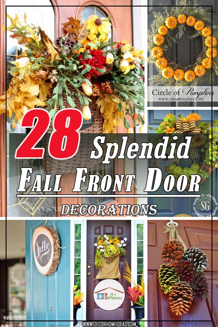 Fall Front Door Decorations #falldecor #fallfrontdoor #frontdoor  #decorhomeideas