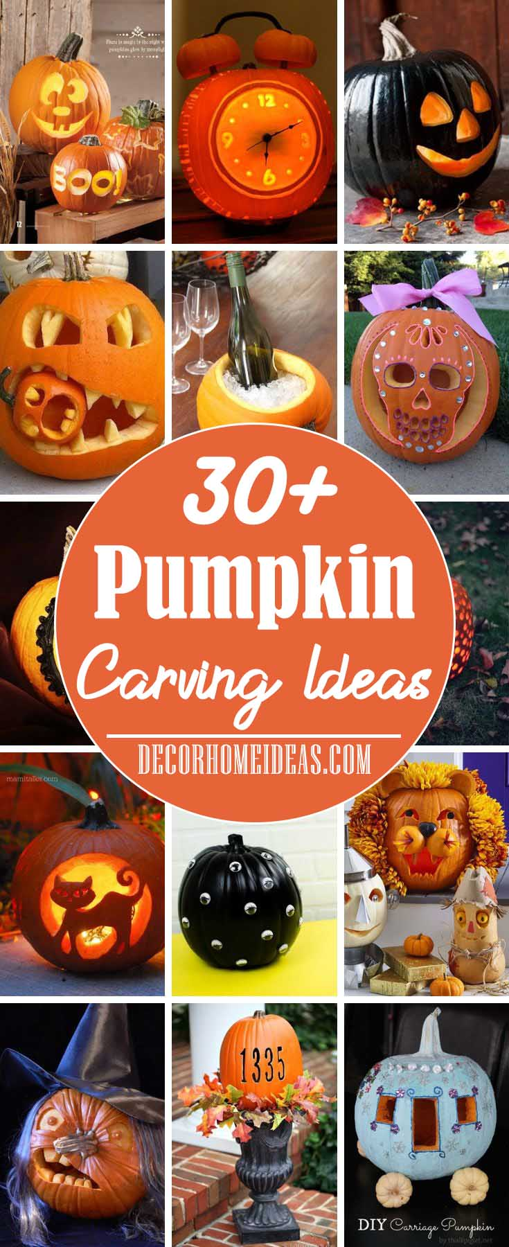 Best Pumpkin Carving Ideas #pumpkin #carving #halloween #falldecor #decorhomeideas