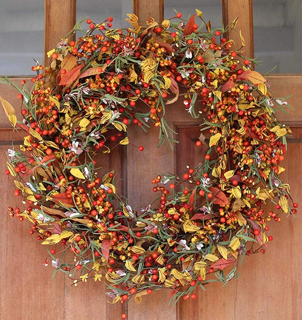 Appalachia Berry Fall Wreath #wreath #falldecor #fallwreath #falldecoration #decorhomeideas