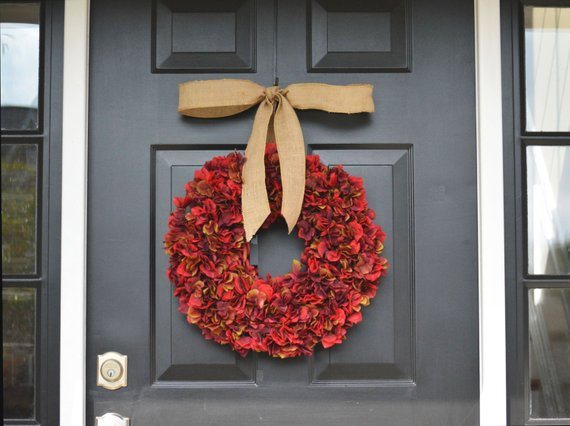 Apple Red Wreath #wreath #falldecor #fallwreath #falldecoration #decorhomeideas