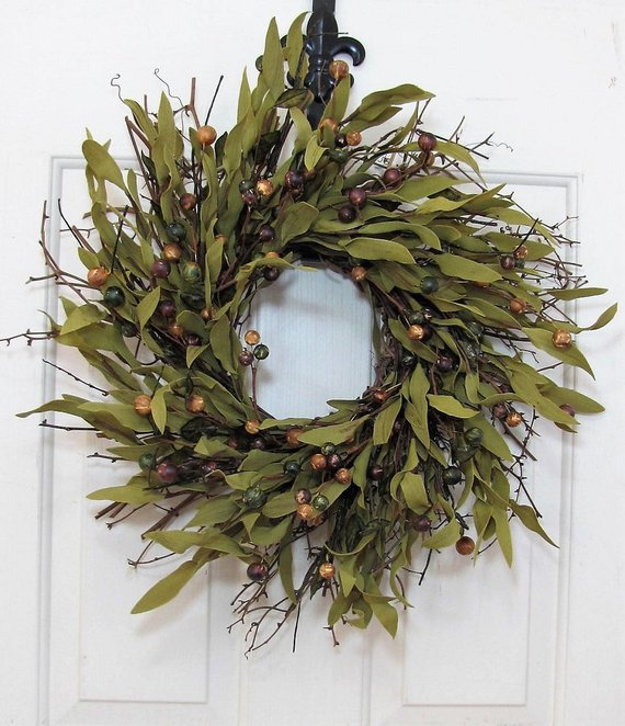 Bay Leaf Wreath #wreath #falldecor #fallwreath #falldecoration #decorhomeideas