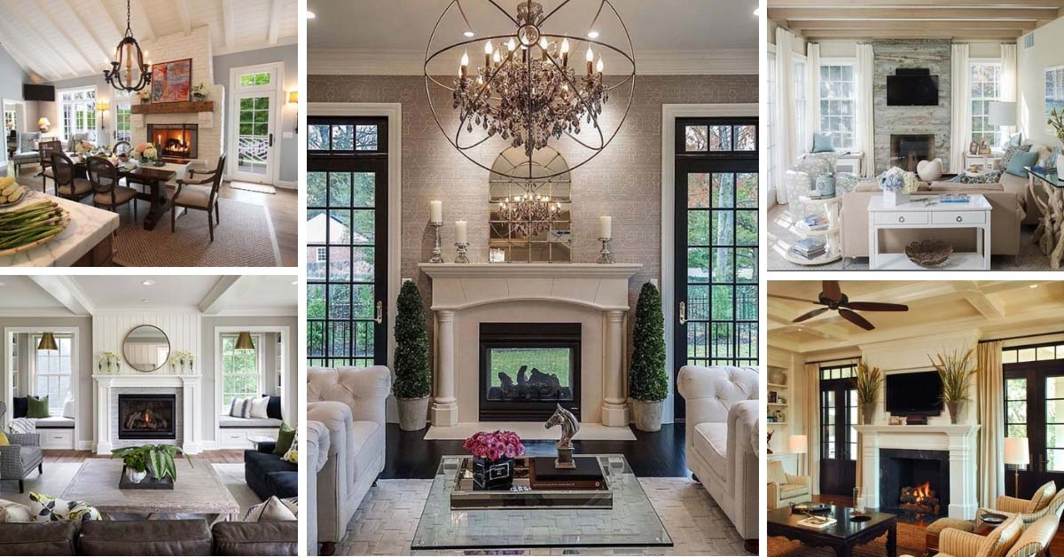 Picture of: 25 Fireplace Mantels With Windows On Each Side And Window Seats Or Doors Decor Home Ideas