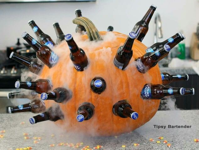 Beer Pumpkin #pumpkin #carving #halloween #falldecor #decorhomeideas