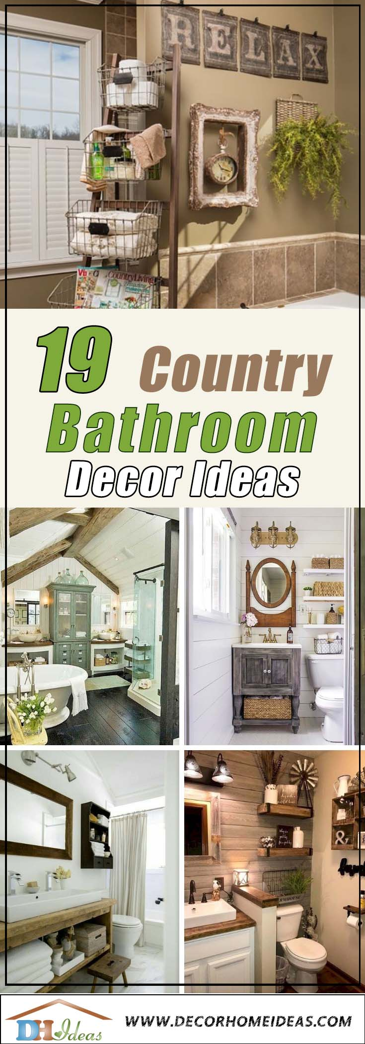 Country Bathroom Decor Ideas #countrybathroom #countrydecor #bathroom #farmhouse #decorhomeideas