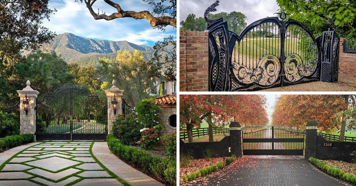 28 Awesome Driveway Gate Ideas To Impress Your Guests Decor Home Ideas,Unique 3d Tattoo Designs For Ladies