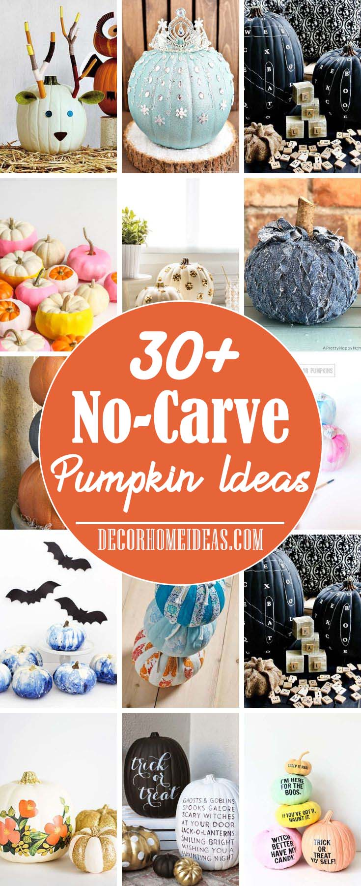 Amazing No-Carve Pumpkin Ideas #pumpkin #falldecor #decorhomeideas