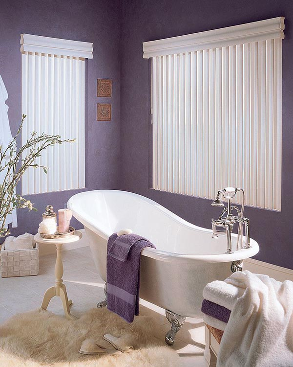 Classic purple bathroom idea #purplebathroom #purple #bathroom #lavender #bathroomideas #decorhomeideas