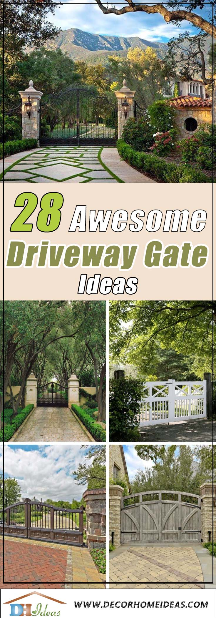 28 Awesome Driveway Gate Ideas To Impress Your Guests
