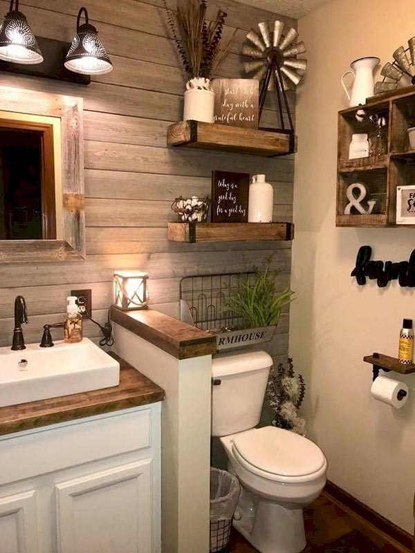 Country Bathroom Decoration #countrybathroom #countrydecor #bathroom #farmhouse #decorhomeideas