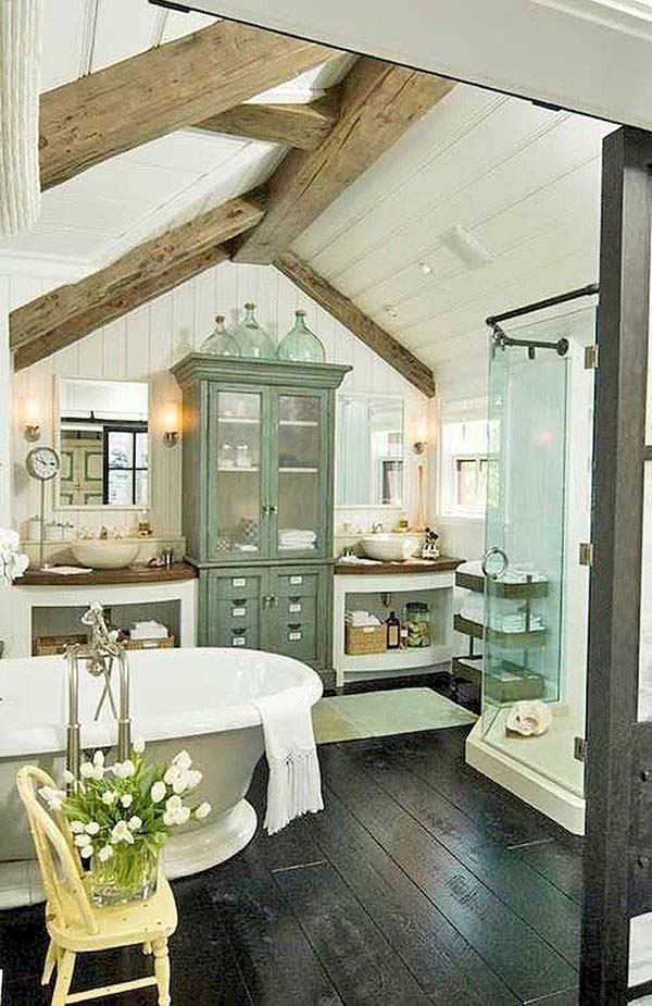 Country Bathroom Design #countrybathroom #countrydecor #bathroom #farmhouse #decorhomeideas