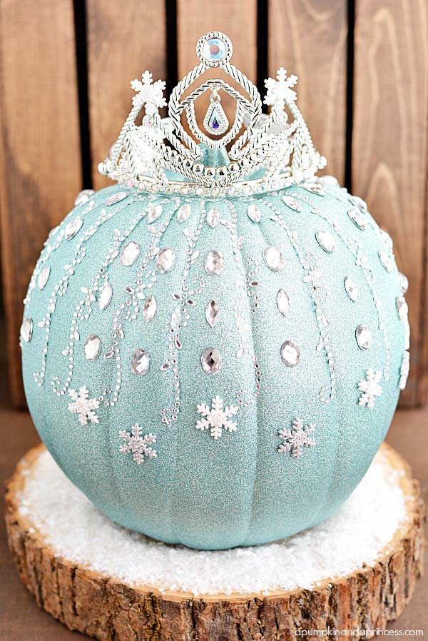 DIY Elsa Pumpkin No Carve Ideas #pumpkin #falldecor #nocarve #homedecor #decorhomeideas