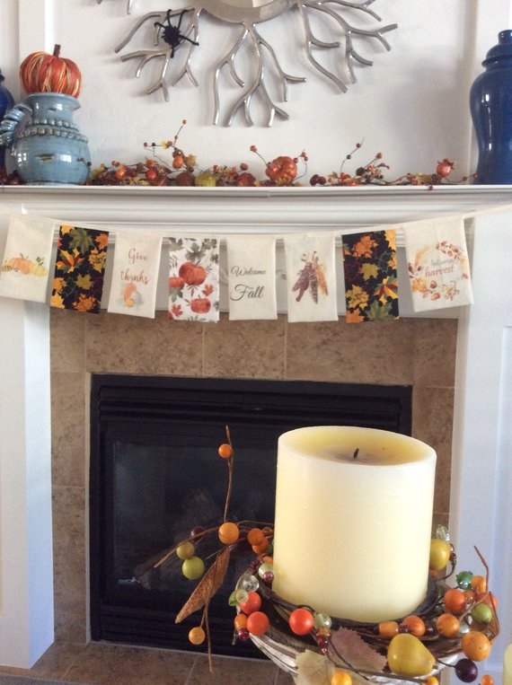 Fall Decor Mantle Banner #falldecor #etsy #fallideas #falldecoration #decorhomeideas