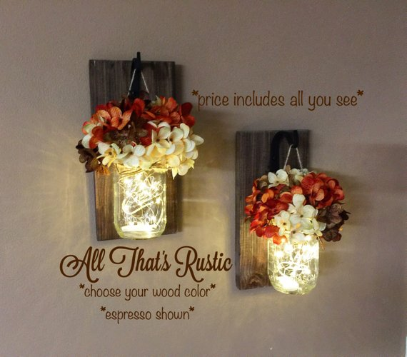 Fall Decor Sconces #falldecor #etsy #fallideas #falldecoration #decorhomeideas