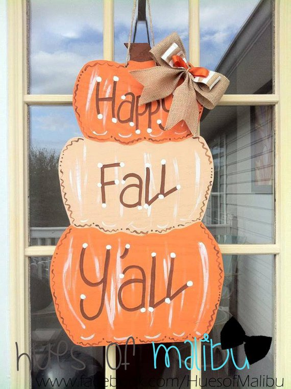 Fall Door Hanger #falldecor #etsy #fallideas #falldecoration #decorhomeideas