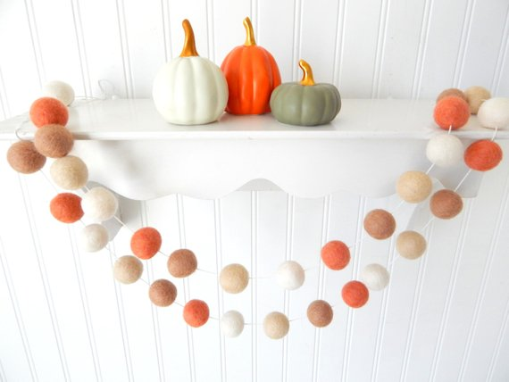Fall Garland #falldecor #etsy #fallideas #falldecoration #decorhomeideas