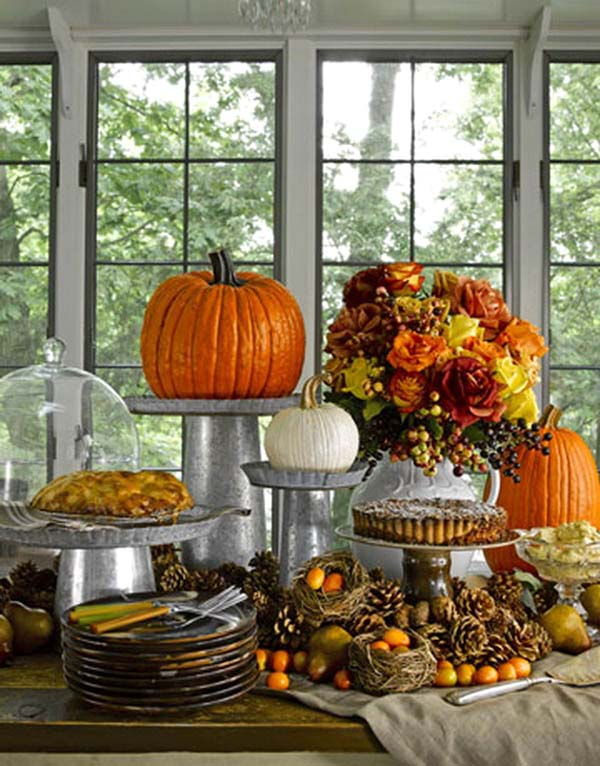 Fall Pumpkin Table Centerpiece #pumpkindecor #centerpiece #falldecor #decorhomeideas