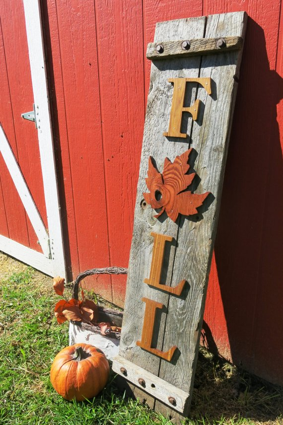 Fall Sign Porch Decoration #falldecor #etsy #fallideas #falldecoration #decorhomeideas