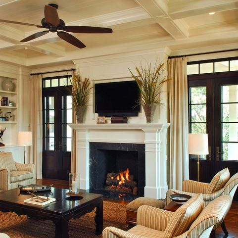 Fireplace mantel between doors #fireplacemantel #fireplace #mantel #homedecor #decorhomeideas