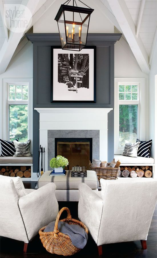 Fireplace mantel with seatings #fireplacemantel #fireplace #mantel #homedecor #decorhomeideas