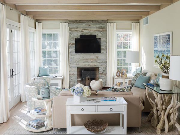 Fireplace mantel with windows on each side and seats #fireplacemantel #fireplace #mantel #homedecor #decorhomeideas