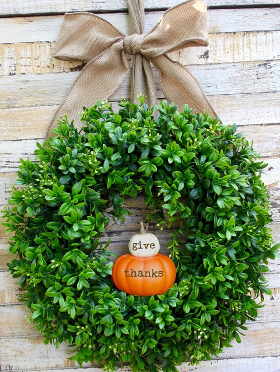 Give thanks wreath #wreath #falldecor #fallwreath #falldecoration #decorhomeideas