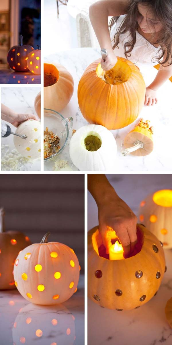 Glass bead Jack-o-lantern #pumpkin #carving #halloween #falldecor #decorhomeideas