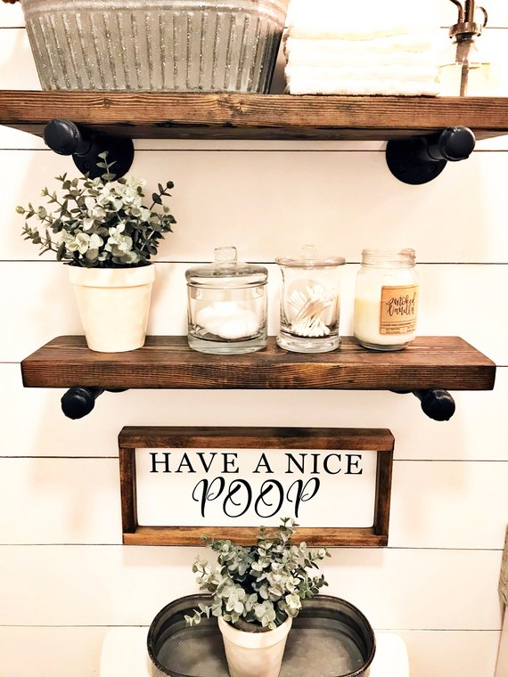 Have a nice poop Country Bathroom Sign #countrybathroom #countrydecor #bathroom #farmhouse #decorhomeideas