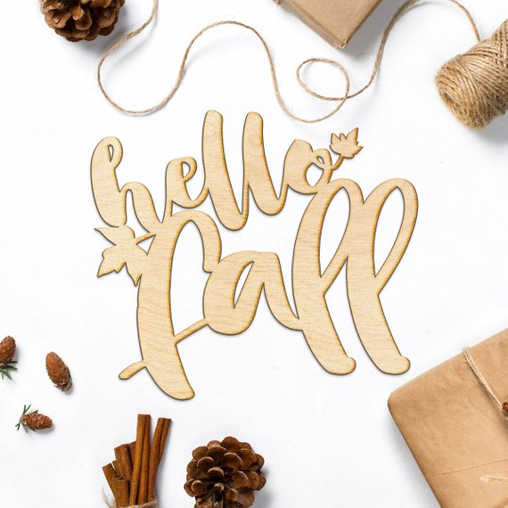 Hello Fall Wood Sign #falldecor #etsy #fallideas #falldecoration #decorhomeideas