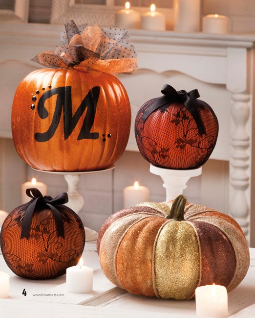 Lace Pumpkins #pumpkin #carving #halloween #falldecor #decorhomeideas