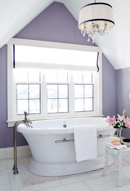 Light purple bathroom #purplebathroom #purple #bathroom #lavender #bathroomideas #decorhomeideas