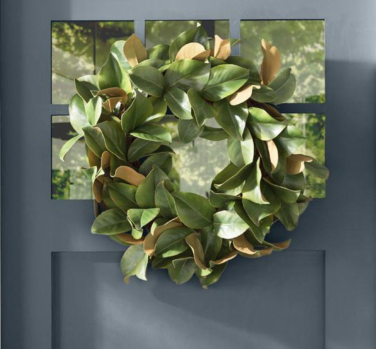 Magnolia Leaf Wreath #wreath #falldecor #fallwreath #falldecoration #decorhomeideas