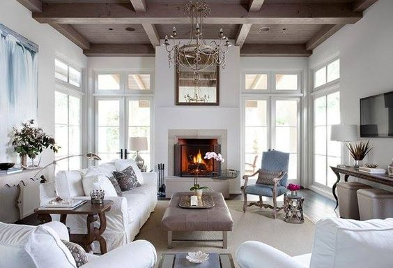 Modern fireplace mantel with doors on each side #fireplacemantel #fireplace #mantel #homedecor #decorhomeideas