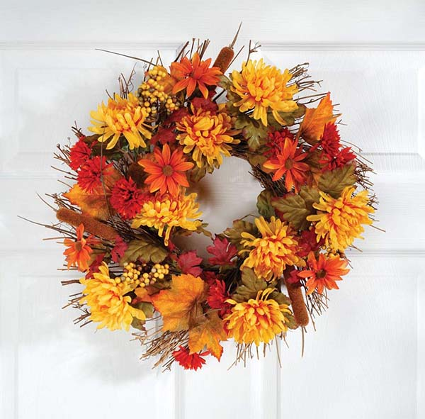 Mum wreath #wreath #falldecor #fallwreath #falldecoration #decorhomeideas