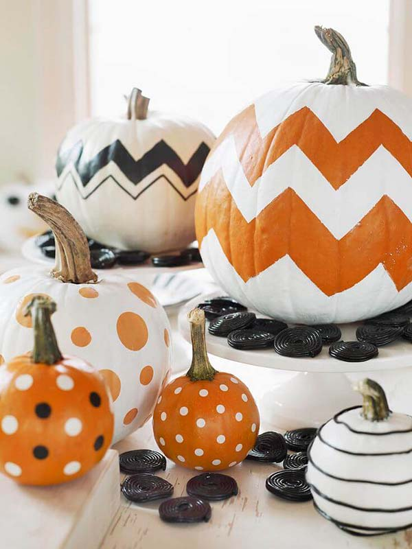 No-Carve Pumpkin Ideas Painted #pumpkin #falldecor #nocarve #homedecor #decorhomeideas