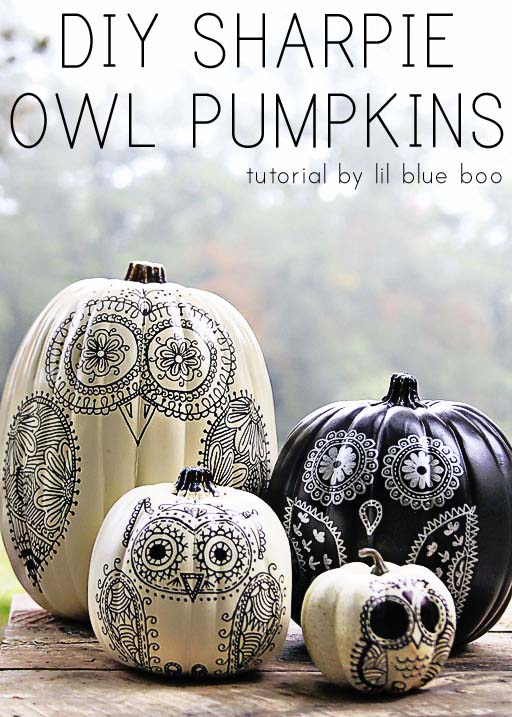 Owl Pumpkins Decoration #pumpkin #falldecor #nocarve #homedecor #decorhomeideas
